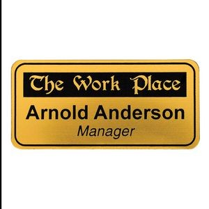 Express Laser Engraved Rectangle w/ Radius Corners Name Badges