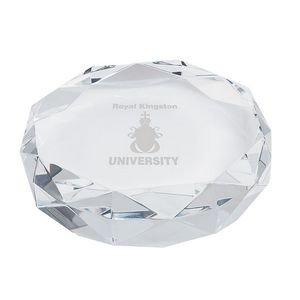 Rimini Gem Cut Crystal Paperweight