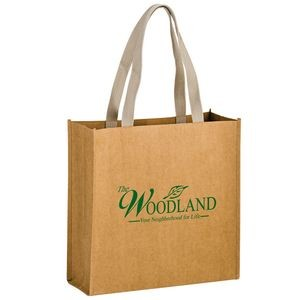 "TIDAL WAVE - Washable Kraft Paper Tote Bag w/ Web Handle (13""x5""x13"") - SP"