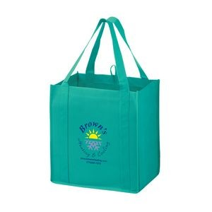 "Heavy Duty Non-Woven Grocery Tote Bag w/ Insert (12""x8""x13"") - Screen Print"