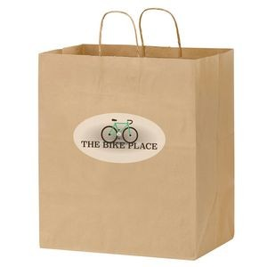 "Natural Kraft Paper Carry-Out Bag w/ Full Color (14 1/2""x9 1/2""x16 1/4"") - Color Evolution"