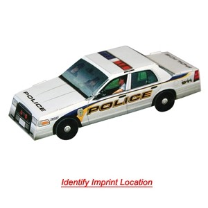 Foldable Die-Cut Police Car (Full Color Digital)