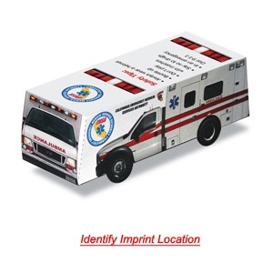 Foldable Die-Cut Ambulance (Full Color Digital)