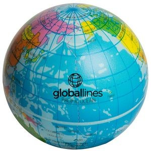 Squeezies®Printed Globe Stress Reliever
