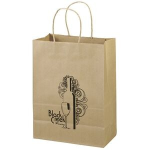 Eco Jenny Kraft-Brown Shoppers Bag (Flex Ink)