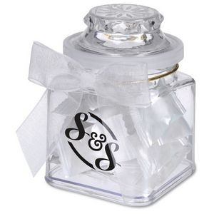 8 Oz. Plastic Jar w/ Stock Wrapped Candies