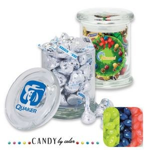 Air Tight Gourmet Glass Jar Filled w/ Jelly Belly