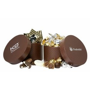 Large Hat Box w/Twist Wrapped Truffles (40 Pieces)
