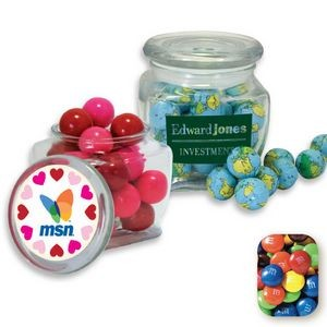 Reusable Glass Spice Jar Filled w/ Assorted M&M's