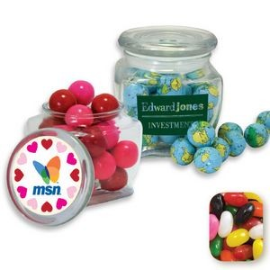 Reusable Glass Spice Jar Filled w/ Assorted Jelly Beans