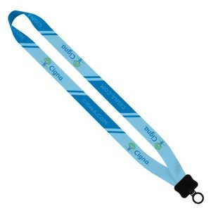 "3/4"" Waffle Weave Dye Sublimated Lanyard w/ Plastic Clamshell & O-Ring"