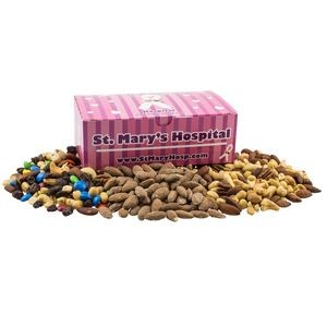 Large Chest Box with Trail Mix, Almonds, and Mixed Nuts