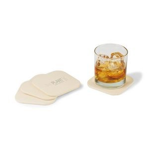 Gaia Bamboo Fiber Coaster Set Natural