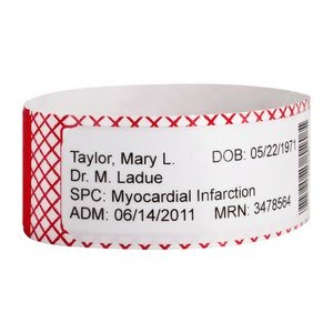 Tyvek® Adult Label Shield Wristband