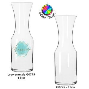 1 Liter Glass Flared Carafe/ Decanter (4 Color Process)