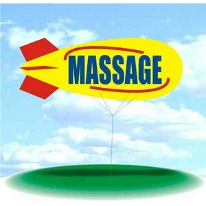 PVC 17' Helium Display Blimp - Massage with Swirl Accents