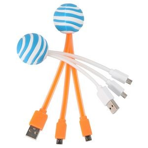 3D Round Tri-Cable