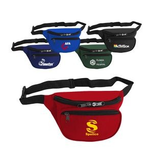 600D Polyester Two Pocket Fanny Pack